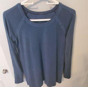 Size 6 Lululemon blue long sleeve shirt